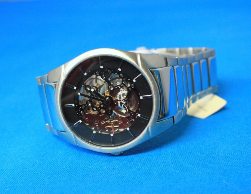Kenneth Cole KC3898 Men's Skeleton Automatic Watch w/ Winding Display