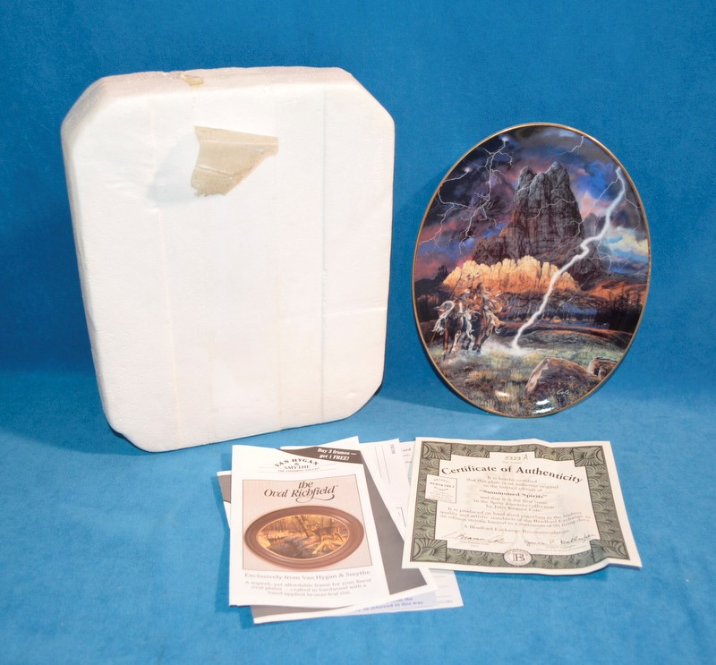 BRADFORD EXCHANGE Collectible Plate 5323 A SUMMONED SPIRITS