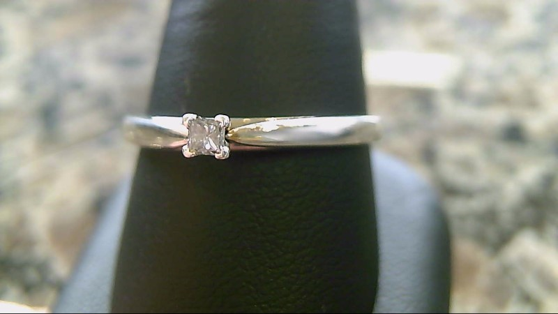 Lady's Diamond Solitaire Ring .11 CT. 14K White Gold 2.8g