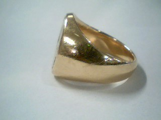 Gent's Gold Ring 14K Yellow Gold 19.3g Size:10