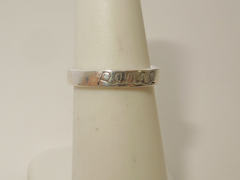 Lady's Silver Ring 925 Silver 2.1g Size:5