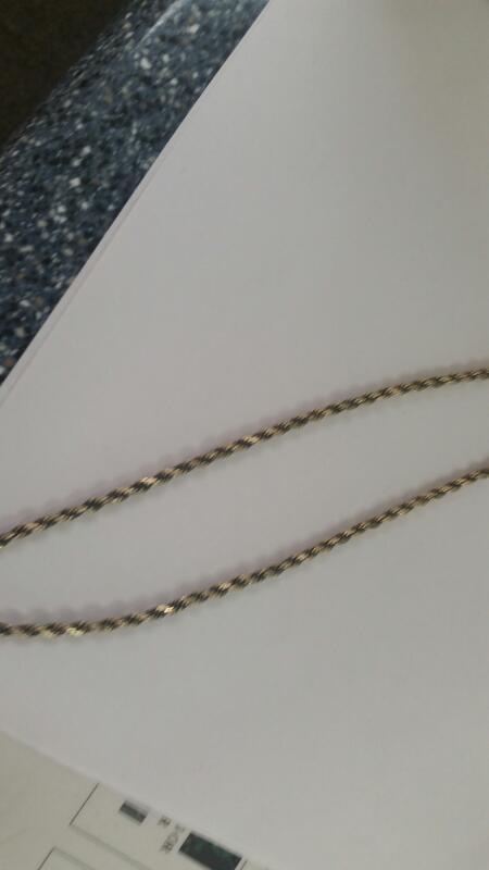 "14K-Y/G 22"" Diamond Cut Rope Chain"