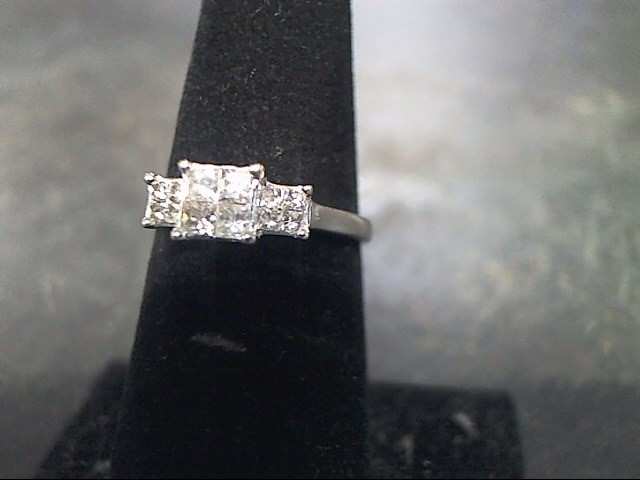 Lady's Diamond Cluster Ring 12 Diamonds .36 Carat T.W. 14K White Gold 1.7dwt
