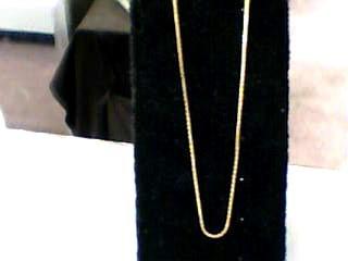 "20"" Gold Box Chain 14K Yellow Gold 2.7dwt"