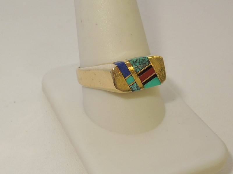 Gent's Gold Ring 14K Yellow Gold 6.5g Size:11