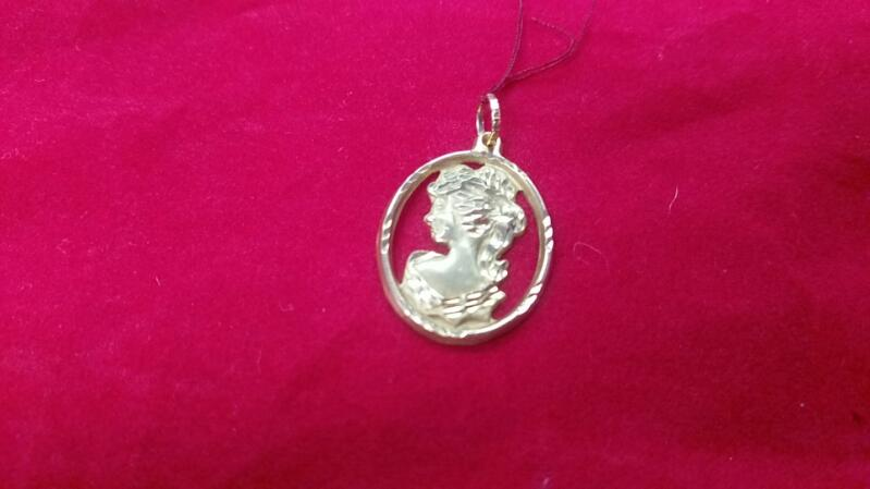 WOMENS CAMEO PENDANT 14K Yellow Gold 0.9g