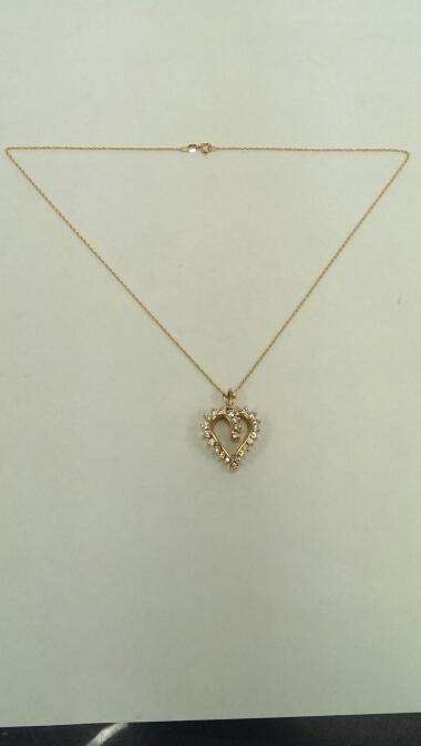 "16"" Diamond Necklace 24 Diamonds 1.20 Carat T.W. 14K Yellow Gold 5.6g"