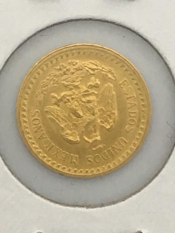 1919 Dos Y Medio (2 1/2) Pesos Gold Coin (Mexico)