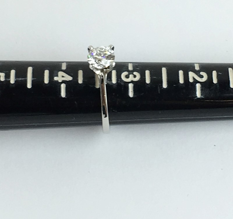 GIA Diamond Solitaire .80 CT. 950 Platinum 3.02g Size:3.5 VVS1 G Certified