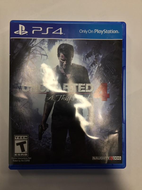 UNCHARTED (4), A THIEF'S END GAME FOR PS-4, GOOD CONDITION