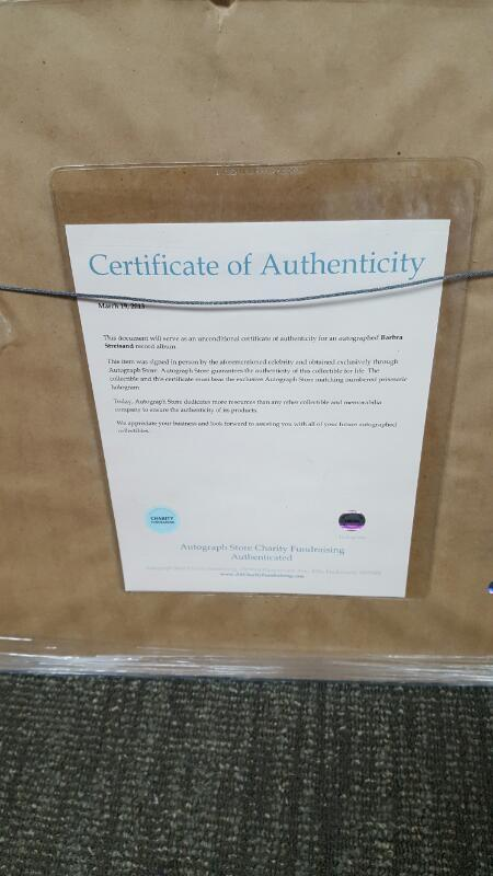 BARBRA STREISAND AUTOGRAPHED VINYL WET ALBUM  WITH CERTIFICATE OF AUTHENTICITY