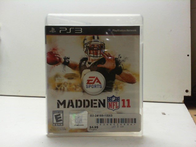 SONY Sony PlayStation 3 Game MADDEN 11 PS3