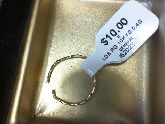 Lady's Gold Ring 10K Yellow Gold 0.4g