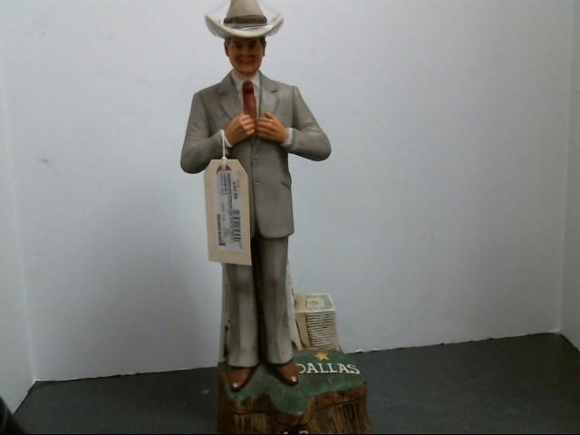 AMERICANA PORCELAIN Collectible Plate/Figurine 1980 DALLAS J.R. EWING STATUTE