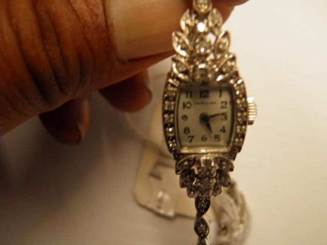Antique Gold-Diamond Misc. 47 Diamonds .47 Carat T.W. 14K White Gold 17.3g