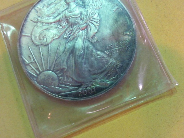 UNITED STATES Silver Coin 2001 AMERICAN EAGLE SILVER DOLLAR