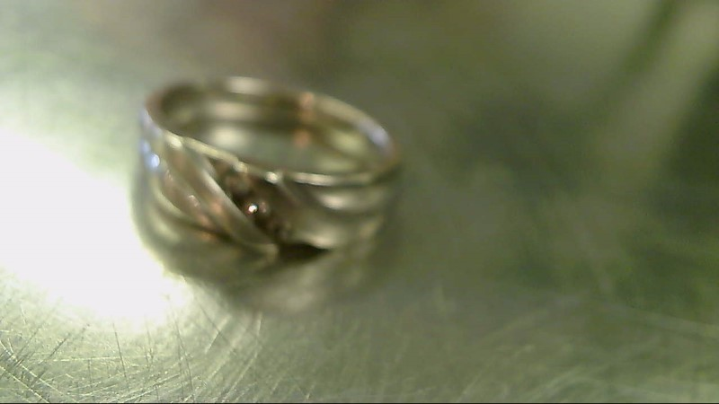 Lady's Diamond Wedding Band 3 Diamonds .21 Carat T.W. 10K White Gold 7.1g