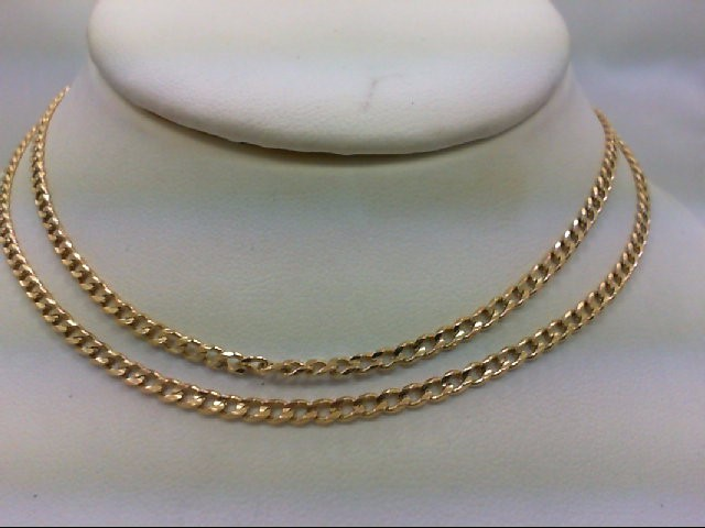 "24"" Gold Link Chain 18K Yellow Gold 12g"