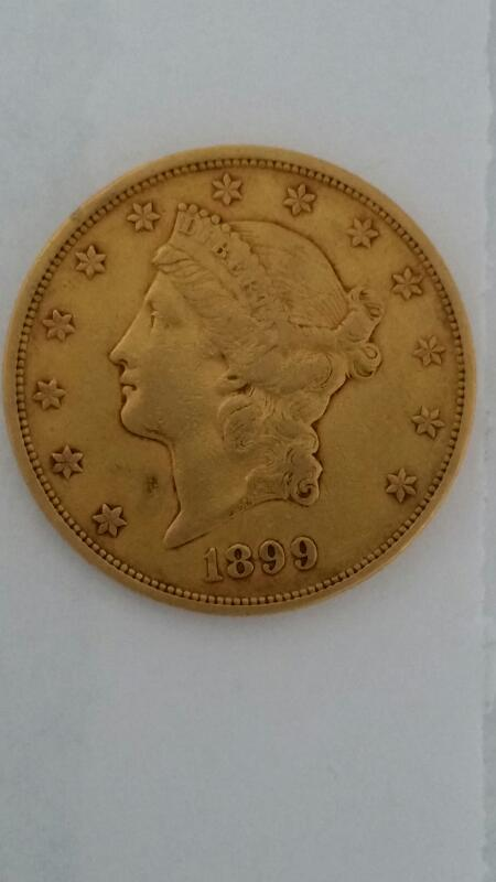 UNITED STATES Gold Coin 1899 $20 LIBERTY GOLD