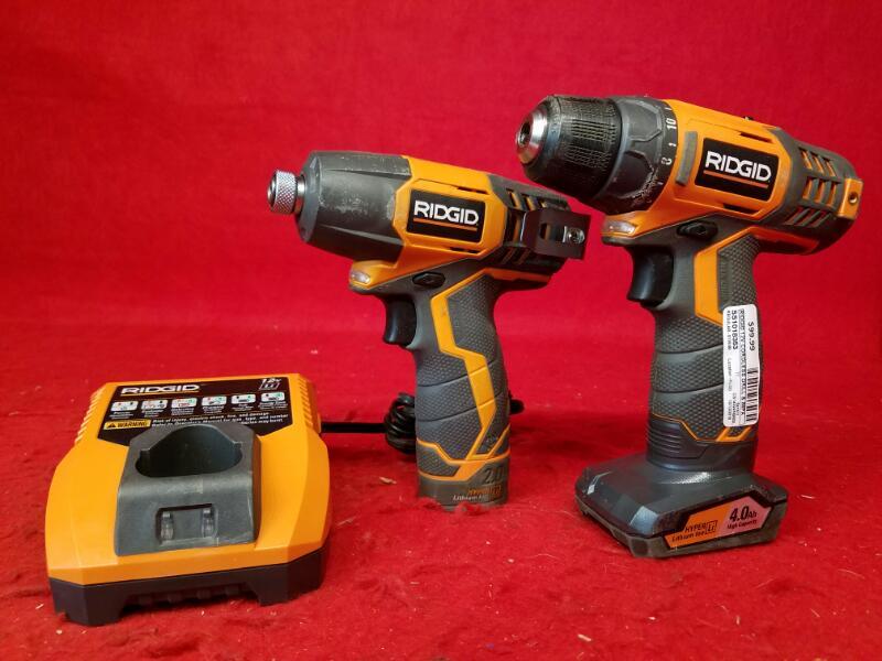 Ridgid 12v Cordless Drill & Impact Combo Set