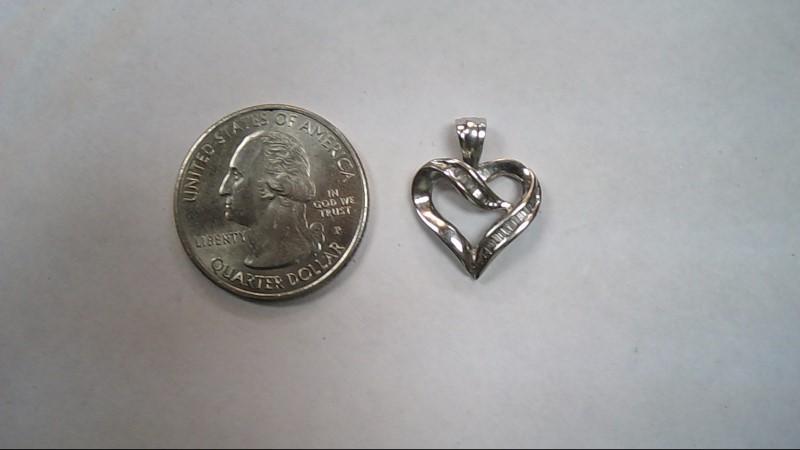 Gold-Multi-Diamond Pendant 20 Diamonds .20 Carat T.W. 14K White Gold 1.7g