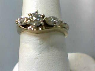 Lady's Diamond Wedding Set 3 Diamonds .70 Carat T.W. 14K Yellow Gold 3dwt