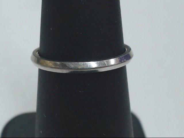 VINTAGE REAL SOLID 18K WHITE GOLD JABEL WEDDING RING BAND RIDGE SZ 5