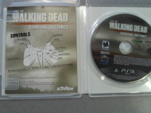 SONY Sony PlayStation 3 Game THE WALKING DEAD SURVIVAL INSTINCT