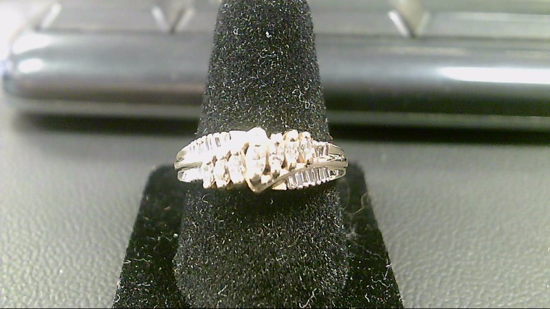 Lady's Diamond Cluster Ring 27 Diamonds .80 Carat T.W. 14K Yellow Gold 4.3g
