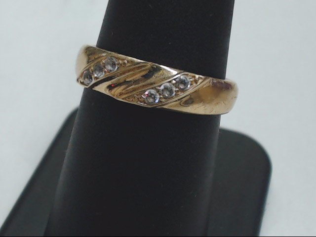 ESTATE WEDDING RING BAND REAL SOLID 10K YELLOW GOLD UNISEX SIZE 7.5
