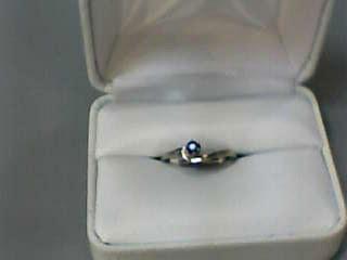 Alexandrite Lady's Stone Ring 14K White Gold 1.3dwt Size:5.7