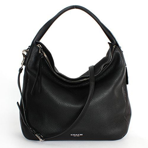 COACH BLEECKER PEBBLED LEATHER SULLIVAN HOBO F31623