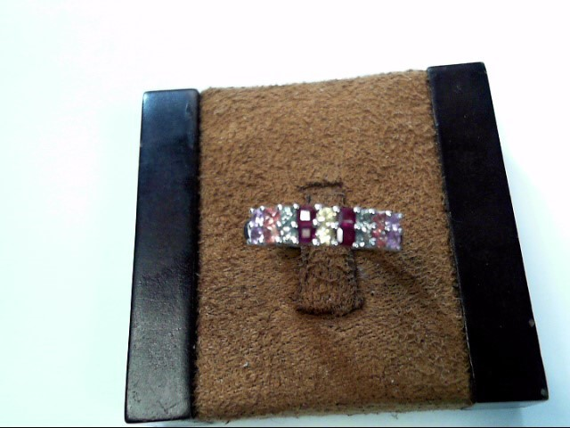 Pink Stone Lady's Silver & Stone Ring 925 Silver 1.5dwt