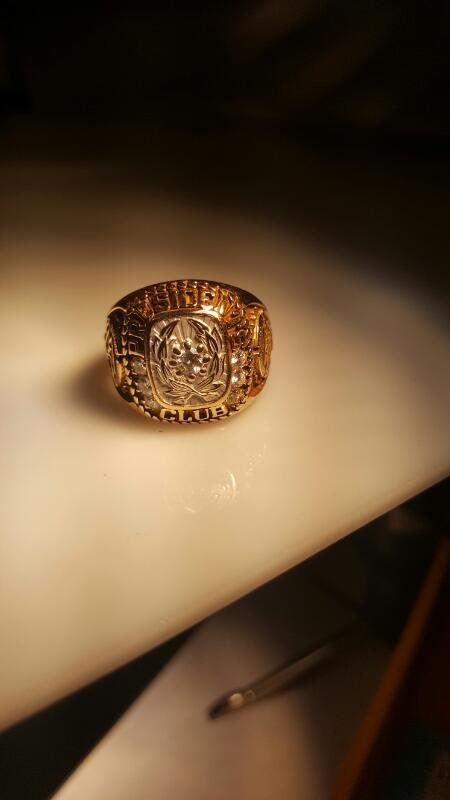 Gent's Diamond Fashion Ring 7 Diamonds 1.05 Carat T.W. 14K Yellow Gold 17.73g