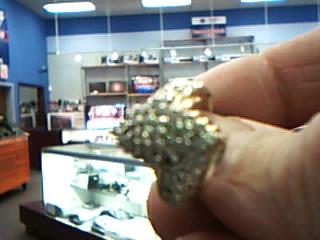 Lady's Diamond Cluster Ring 63 Diamonds 1.89 Carat T.W. 10K Yellow Gold 6.15g
