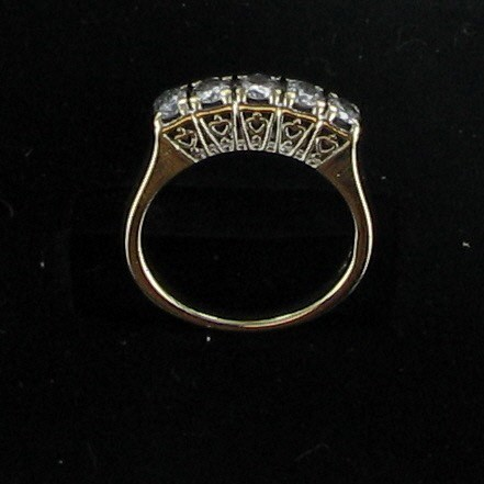 Lady's Diamond Fashion Ring 5 Diamonds .75 Carat T.W. 14K Yellow Gold 2.4dwt