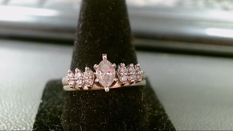 Lady's Diamond Wedding Set 13 Diamonds .64 Carat T.W. 18K Yellow Gold 2.7g