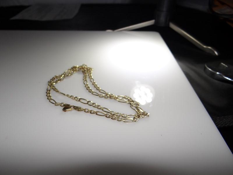 """25"""" Gold Figaro Chain 14K Yellow Gold 12.91g"""