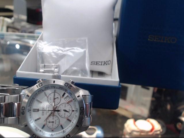SEIKO Gent's Wristwatch 6T63-00E0 CHRONOGRAPH 100M