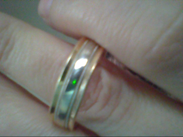 Gent's Gold Wedding Band 14K 2 Tone Gold 7.4g
