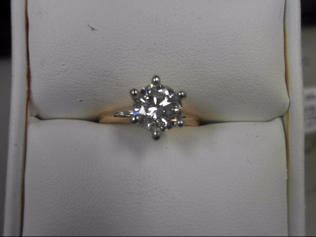 Lady's Diamond Solitaire Ring 1.51 CT. 14K Yellow Gold 2.82g