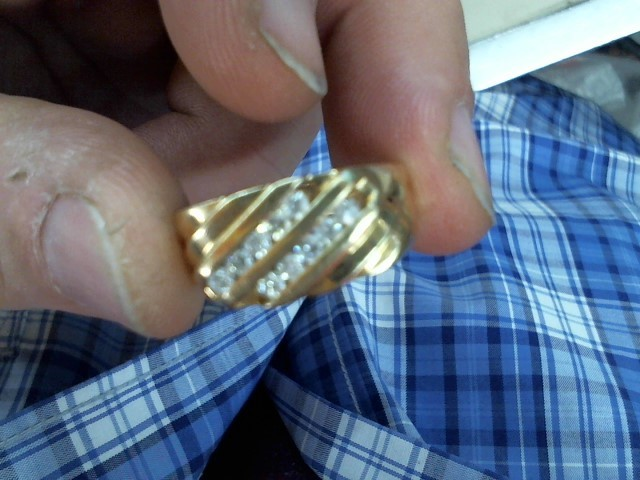 Gent's Diamond Fashion Ring 10 Diamonds .50 Carat T.W. 14K Yellow Gold 5.4g