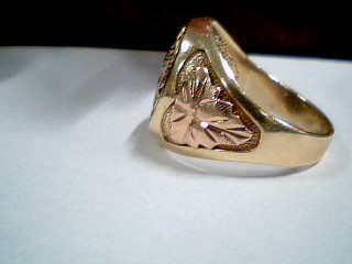 Gent's Gold Ring 10K 2 Tone Gold 8.1g Size:10.5