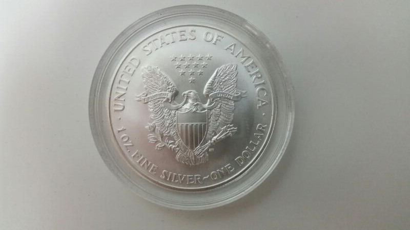 UNITED STATES PAINTED SILVER EAGLE - 2000