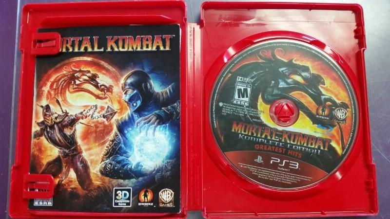 SONY PS3 GREATEST HITS MORTAL KOMAT KOMPLETE EDITION