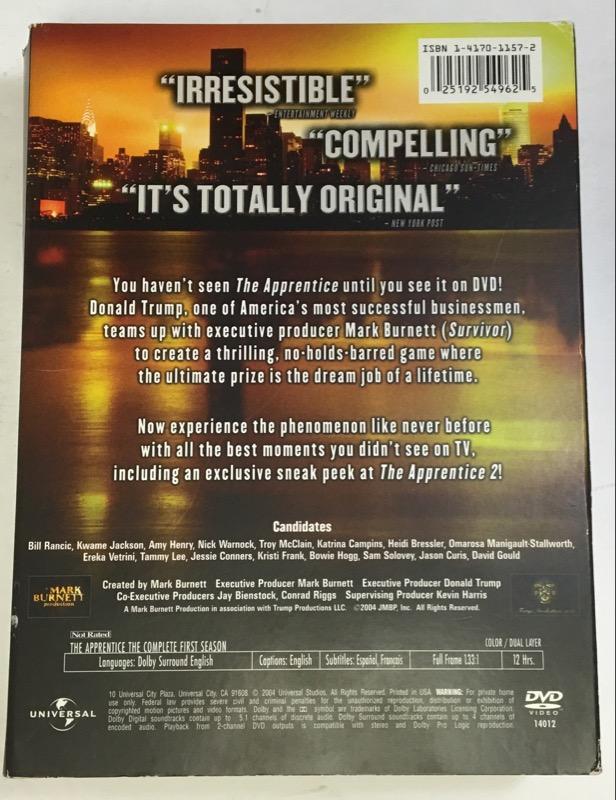 DVD BOX SET THE APPRENTICE : SEASON 1