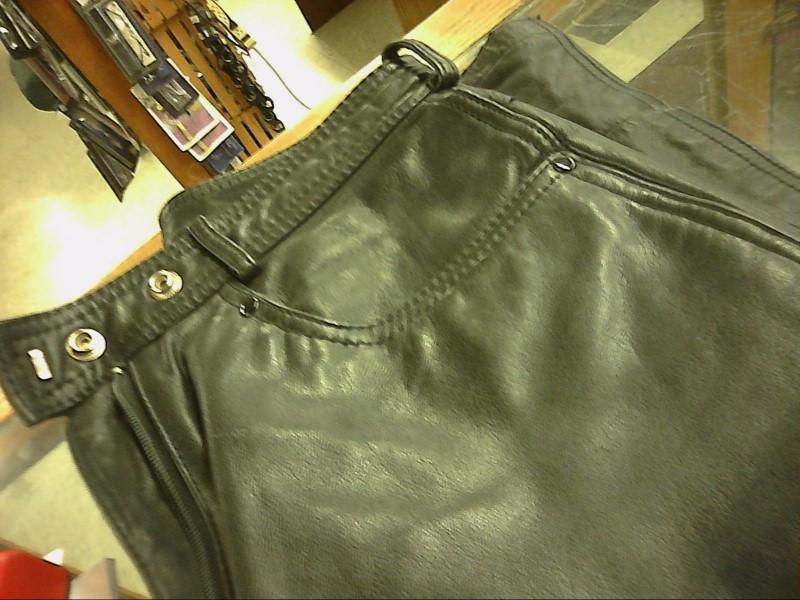 Verducci Ladies Black Leather Pants