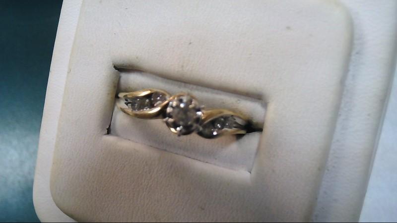 Lady's Diamond Solitaire Ring 7 Diamonds .16 Carat T.W. 10K Yellow Gold 2.8g