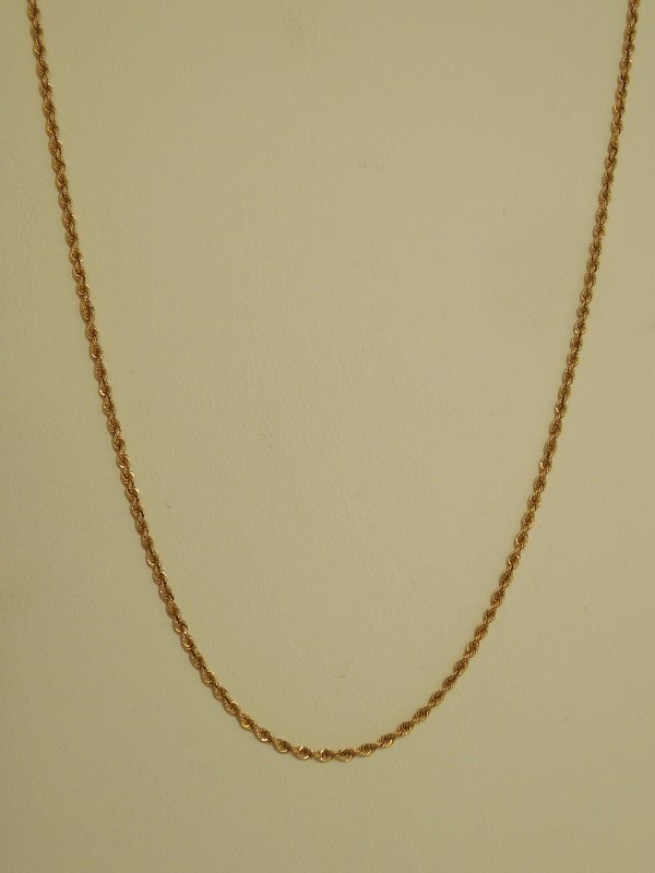 "16"" Gold Rope Chain 14K Yellow Gold 2.6g"