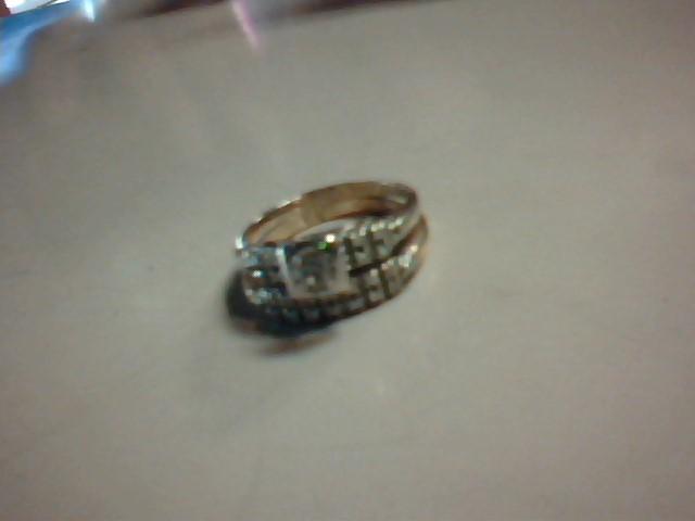 Lady's Diamond Wedding Set 24 Diamonds .38 Carat T.W. 14K Yellow Gold 5.2g